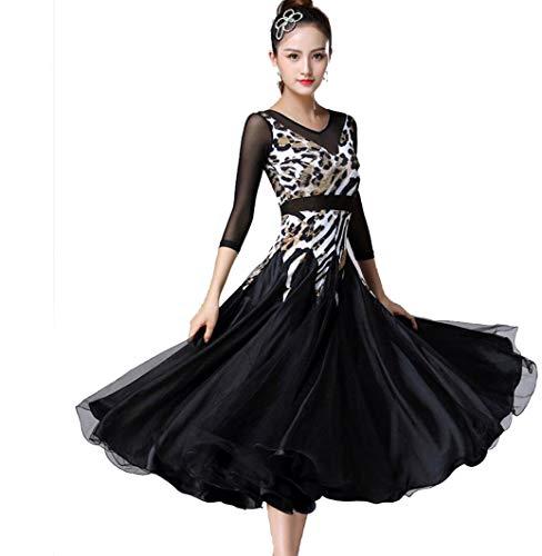 Frauen Tanz Flamenco Kostüm - SMACO Standard Ballsaal Kleid Frauen Walzer Kleid Franse Tanzabnutzung Ballsaal Tanzkleid Moderner Tanz Kostüme Flamenco Kleid,XXXL