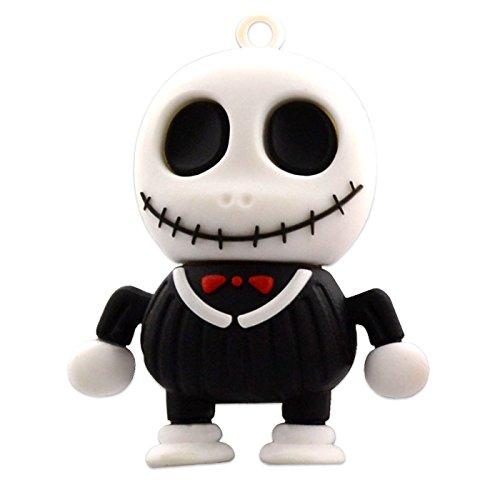 28 USB-Sticks 128GB Skelett Horror Halloween 3D schwarz (Lustige Halloween-symbole)