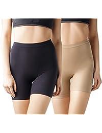 +MD Calzones Sin Costuras para Mujer Muslo Medio Barriga Pantalones Cortos de Potencia más Ajustes