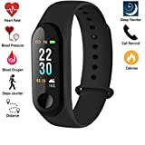 ZIERA Men's Heart Rate Monitor Bluetooth Health Fitness Tracker Smart Band for Smartphones