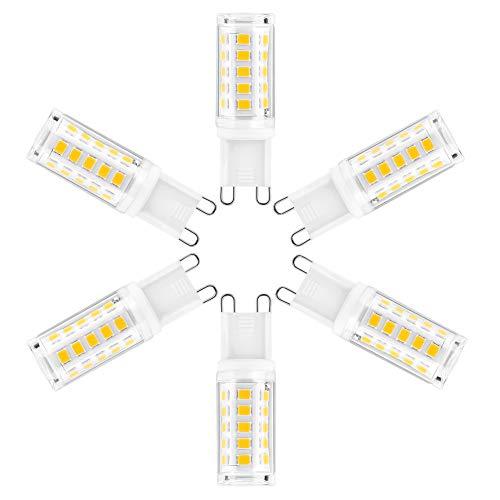G9 LED Lampe Warmweiß 2700K, 5W / Kein Flimmern/Dimmbar G9 LED Lampen COB Neuestes, 500LM G9 Led Lampe Birne Ersatz, AC220-240V - 6er-pack [Energieklasse A+] (Dimmbar Kein Flimmern 6er-pack)