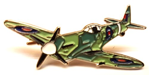 Metal Enamel Pin Badge WW2 RAF Spitfire Aeroplane