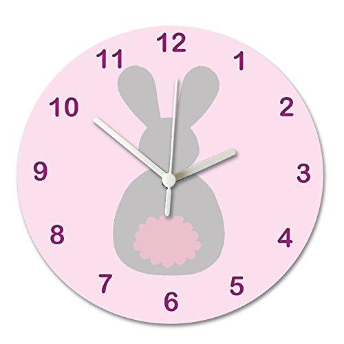 Kinderzimmer Uhr, Baby Wanduhr für Jungen, Raum Wanduhr, geräuschlos Uhren, Wanduhr, Kinder Uhren, Bunny Uhr