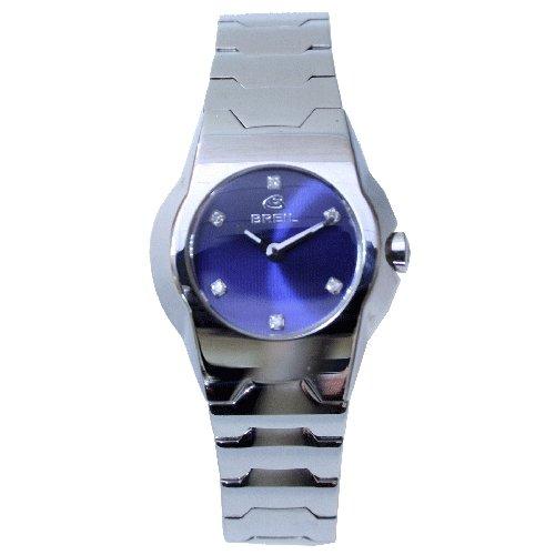 Breil 2519280597 - Reloj para Mujer con Correa de Acero, Color Azul/Gris