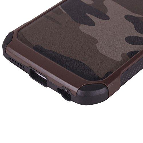 iPhone 6 Plus hülle, iPhone 6s Plus Holster hülle Bookstyle Handyhülle Premium PU Leder Tasche Flip Case Brieftasche Etui Handy Schutz Hülle für Apple iPhone 6 Plus / 6s Plus - Grün braun 2