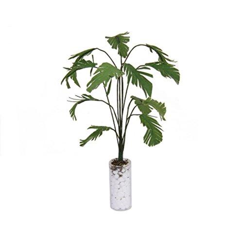 VORCOOL Puppenhaus Miniatur 1/12 Skala Bananenbaum In Flasche dekorative Zubehör (grün + weiß)