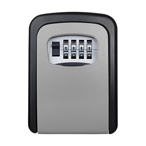 Outdoor Metall Passwort Vorhängeschloss Schlüssel Box, mamum 4Digit Passwort Schlüsselkasten Sicherheit Verstecktes Schloss Fall Wand montiert Vorhängeschloss Realtor Einheitsgröße C