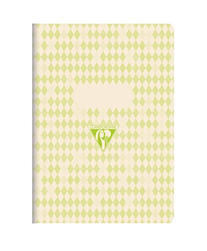 clairefontaine-105596c-9x-14cm-back-to-basics-porttil-de-lomo-cosido-color-verde-pack-de-3