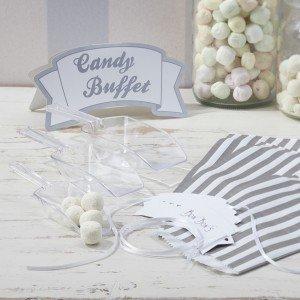 (Ginger Ray Blauen Schokoriegel Kit Für Hochzeiten Oder Partys - 3 X 25 X Schöpft Süßigkeiten Taschen 1 X Zeichen & 3 X-Tags)