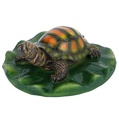 Duokon Teich Schwimmende Tier Badewanne Garten Dekor Schwimmbad Figur Schildkröte Springbrunnen Oberfläche Ornament Lotusblatt