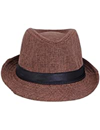 Mens Fedora multipurpose stylish Hat (brown) offer for 1 day