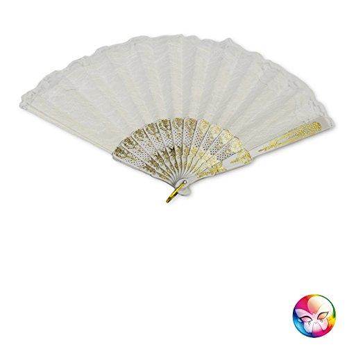 Unbekannt Aptafêtes-ac0610/weiß-Spektrum Marquise Spitze-Gr. 23cm (Burlesque Kostüm Geschichte)