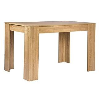 WOLTU TSG18hei Table à manger en bois Table de cuisine Table Bureau Table de travail 120x80x75,5cm (LxPxH),Chêne