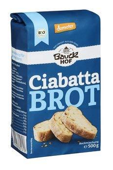 Bauckhof Bio Bauck Demeter Ciabatta Brot (6 x 500 gr)