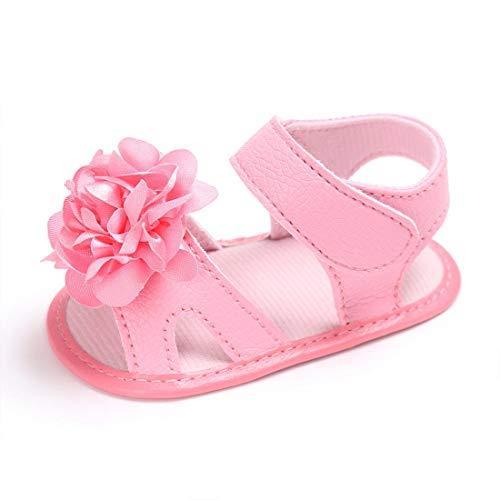 O&N Baby Schuhe Mädchen Cartoon Slip On Trainer Weiche Sohle Rutschfeste Pom Pom Booties Infant Erste Wanderschuhe (Bootie Pom)