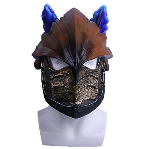 splay Prop Spiel Monster Hunter World Helm Wind Drifting Dragon Halloween Performance Maske PVC Helm Maske,Brown-OneSize ()