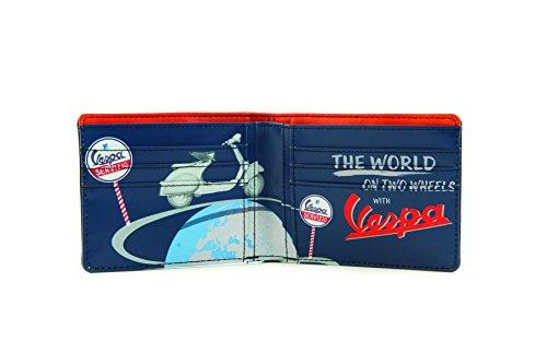 Preisvergleich Produktbild Vespa Piaggio Geldbörse Brieftasche Portemonnaie aus Leder in Schwarz