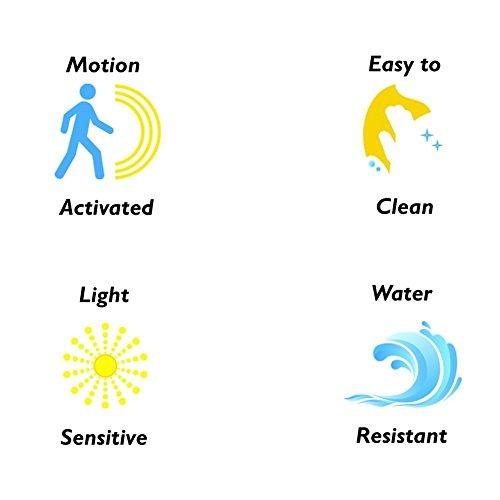 W-top Luz LED de Wc con Sensor de Movimiento automático