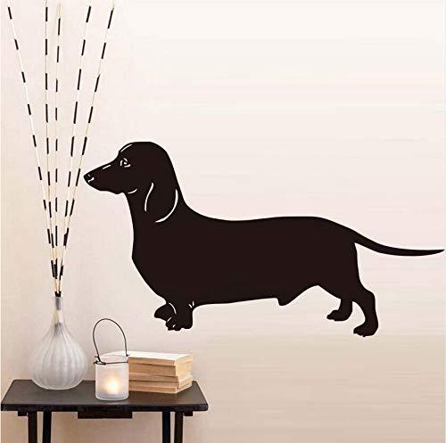 Hwhz 43 X 79 Cm Beliebteste Dackel Hund Wandaufkleber Für Kinderzimmer Vinyl Abnehmbare Tier Tapete Aufkleber Dekoration Zubehör