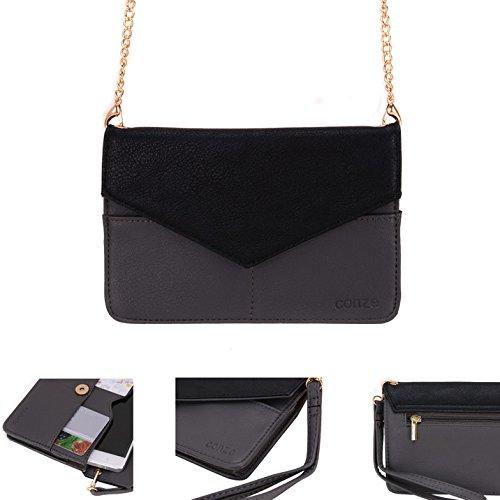 Conze da donna portafoglio tutto borsa con spallacci per Smart Phone per WIKO GOA/Jimmy/Birdy/cera Grigio grigio grigio