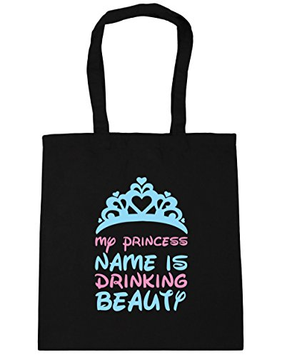 hippowarehouse-my-princess-name-is-drinking-beauty-tote-shopping-gym-beach-bag-42cm-x38cm-10-litres