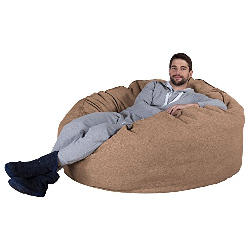 Lounge Pug®, Riesen Sitzsack Sofa C1000-L, CloudSac Latexflocken-Mischung, Schlafsofa, Interalli Wolle Sand - Sand Wolle-mischung
