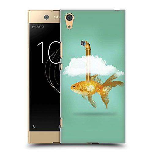 Tasche Periskop (Offizielle Vin Zzep Periskop Goldfisch Fisch Ruckseite Hülle für Sony Xperia XA1 Plus)