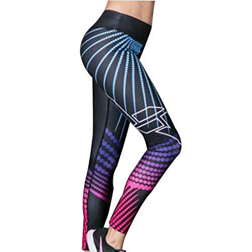 Damen Hosen, Cooljun Frauen Leggings Hose Yogahose Sport-Leggings Jogginghose 3D Printed Strumpfhose Leggins Hose Strumpfhose Schwarz Workout Stretch Yoga Hosen Pants (XL, A)