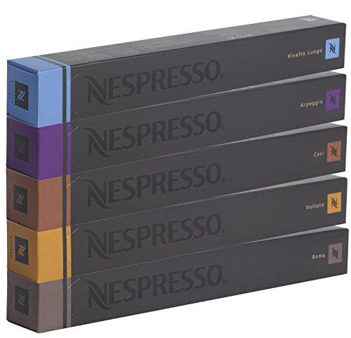50 NESPRESSO CAPSULAS DE CAFÉ (10 x VOLLUTO, 10 x ROMA, 10 x COSI, 10 x VIVALTO LUNGO, 10 x ARPEGGIO)