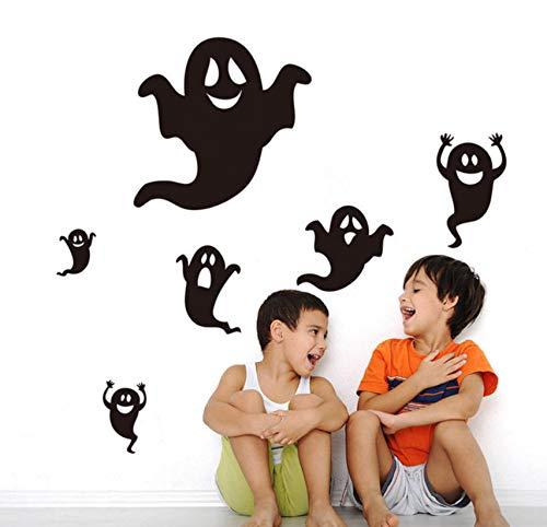 DIY halloween wandaufkleber dekoration Halloween Black Ghost Wandaufkleber -