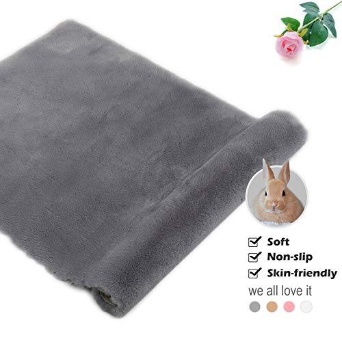Yihaic faux pelliccia di agnello di pecora tappeto,antiscivolo tappeto imitazione di pelliccia di coniglio,soffice moquette soggiorno arredamento camera da letto tappeti per bambini (grigio, 60x90cm)