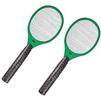Globol 2X Elektrische Fliegenklatsche + Batterien Insektenvernichter Mückentöter