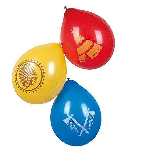 Ideen Party B Motto Kostüm (NEU Luftballons Indianer Annawan, 6 Stk., ca.)
