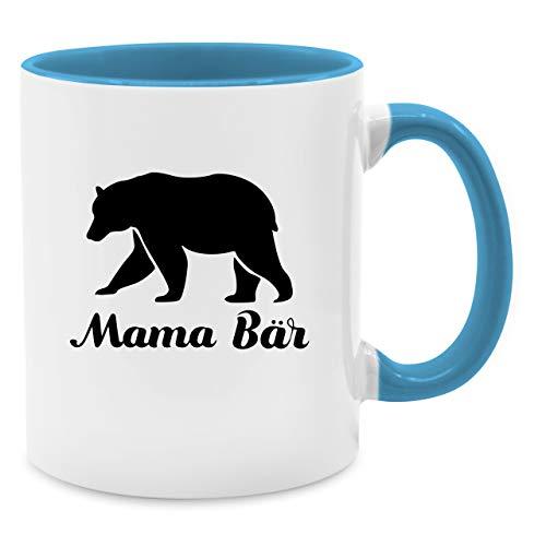Tasse für Mama - Mama Bär - Unisize - Hellblau - Q9061 - Kaffee-Tasse inkl. Geschenk-Verpackung
