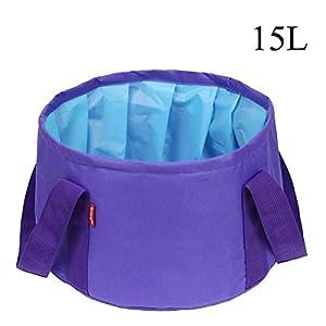 Sunmoch 15L Outdoor Sports bewegliches faltbares Waschbecken Wassereimer für Camping Wandern Angeln Jagd Picknick Gartenarbeit