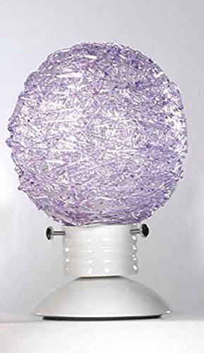 Onli gomitolo lampada da tavolo-abat-jour e14, glicine, 15 x 23 cm (d x h)
