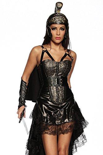 Aufwendiges Kostüm-Set `Gladiator` mit Armstulpen A13241, (Kostüm Frauen Gladiator)