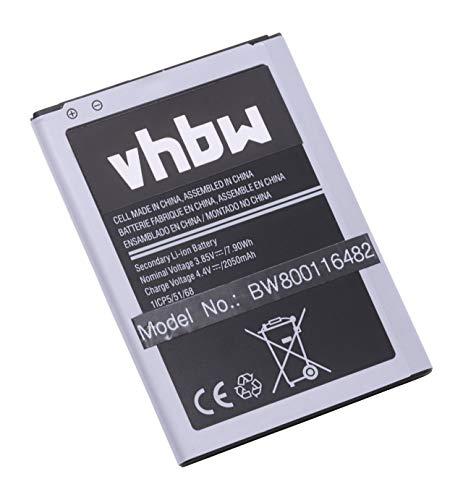vhbw Li-Ion Akku 2000mAh (3.85V) für Handy Smartphone Telefon Samsung Galaxy AMP 2, Express 3, J1 2016, J1 6, J1 6 Duos 4G LTE, Luna, Net10