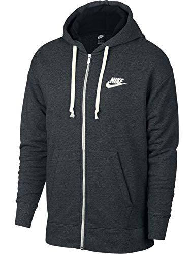 Nike Herren M NSW Heritage FZ Sweatshirt Black/Heather/Sail XS
