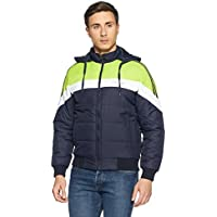 Qube by Fort Collins Men's Bomber Jacket (14645_M_Navy)