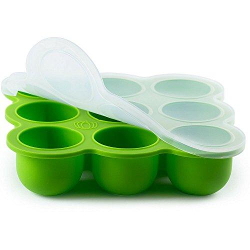 BabyBliss Silikon Babynahrung Aufbewahrung Gefrierbehälter Portionierten Einfrieren von Alle Sorten Babynahrung , Muttermilch, Kräutern, Saucen, Eiswürfeln. Gefrierschrank geeignet , Spülmaschinenfest BPA-frei mit Auslaufsicherem Verschluss