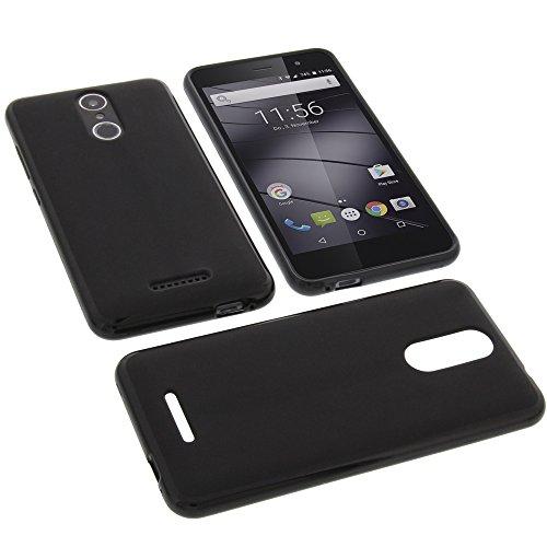 Funda para Gigaset GS160 protectora de goma TPU para móvil negra