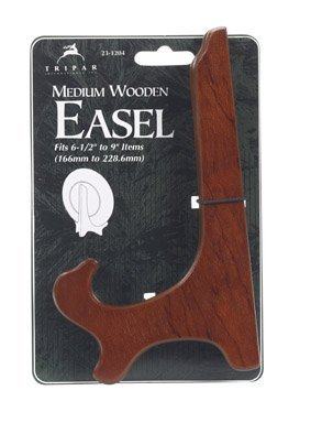 7 Walnut Wooden Plate Stand Easel Holder Display by Tripar