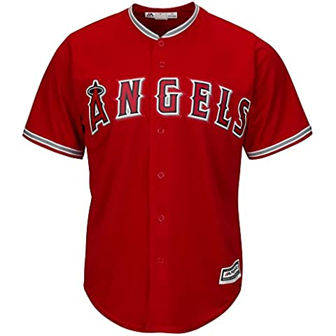 Majestic Los Angeles Angels Cool Base MLB Alternate rosso, Rot, XXL
