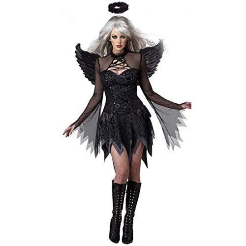 Dark Angels Kinder Kostüm - SPFTOY Außenhandel Europa und Amerika Damen Halloween sexy Dark Angel Kostüm Spiel Uniform Geisterbraut-M