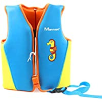 Rosenryan Chaleco de natación para niños,Chaqueta de natación para niños Chaqueta de Entrenamiento de natación para niñas y niños de 1 a 8 años