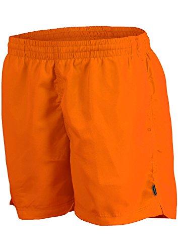 Herren Männer Badeshorts Bermudashorts Badehose trendige Farben Größen S-4XL wählbar f5368 Burnt Orange