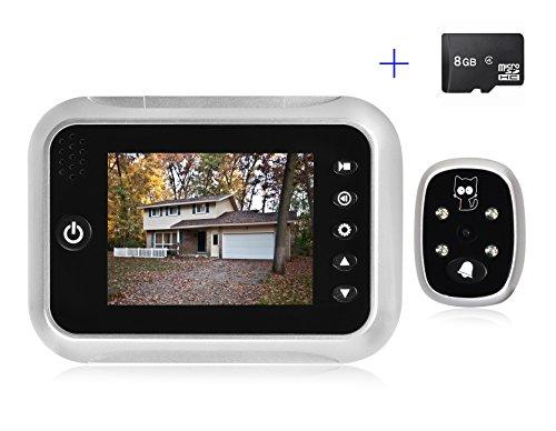 Preisvergleich Produktbild Specam Digitaler Türspion mit 3,5 Zoll LCD Farbdisplay Elektronischer Türkamera mit 8GB Speicherkarte, für Türstärken von 35-90 mm