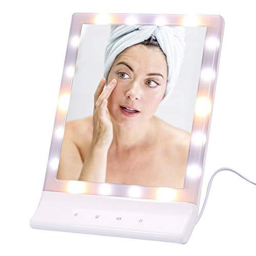 Espejo de maquillaje iluminado LED