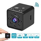 Mini Videocamera 1080P HD Mini Telecamera con Visione Notturna e Rilevamento CMOS Microcamere 155 Gradi Impermeabile Mini Cam Spy Hidden Camera Supporto Mobile WiFi Hotspot per FPV Drone